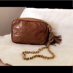 a750fb04a0a2 CHANEL Bags | Authentic Lizard Skin Vintage Camera Bag | Poshmark